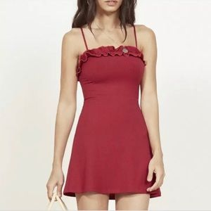 Red Reformation Bri mini dress dupe